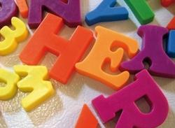 Letras números y figuras infantiles